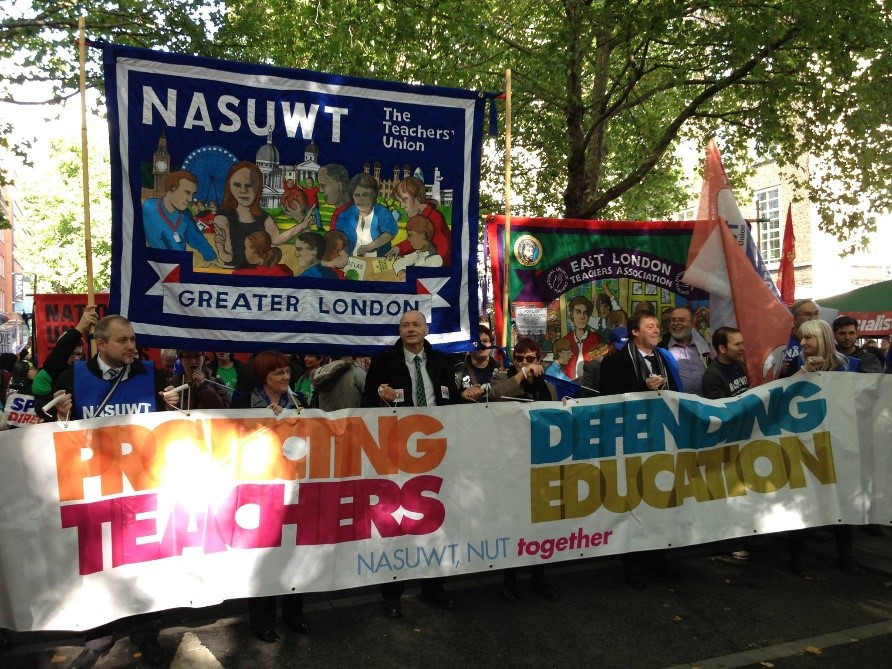NASUWT protests about national pay in London