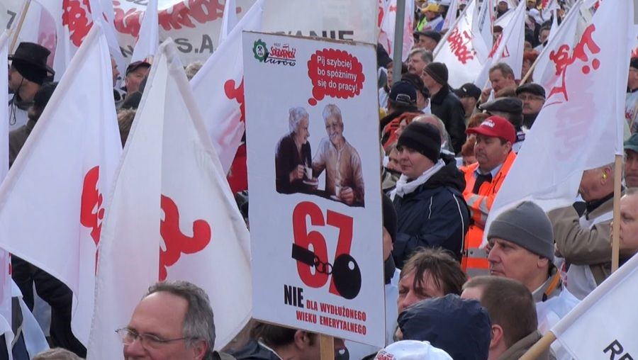 Solidarnosc at the Retirement Age protests